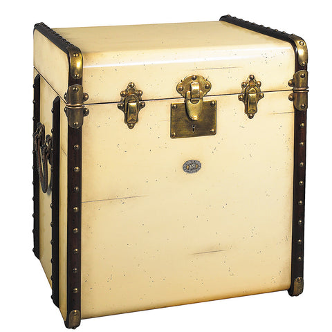 Steamer Trunk Side Table, Ivory