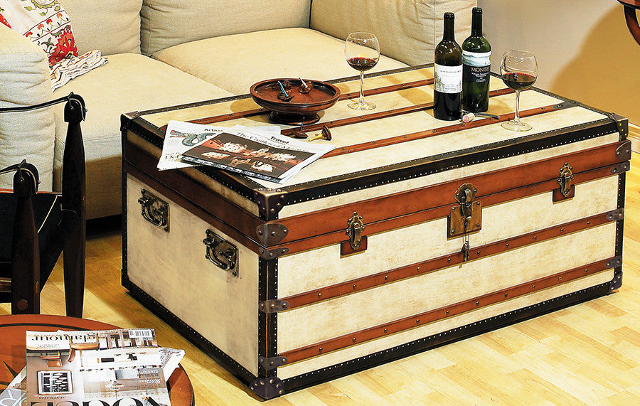 Steamer Trunk Coffee Table Small Timberwolf Bay
