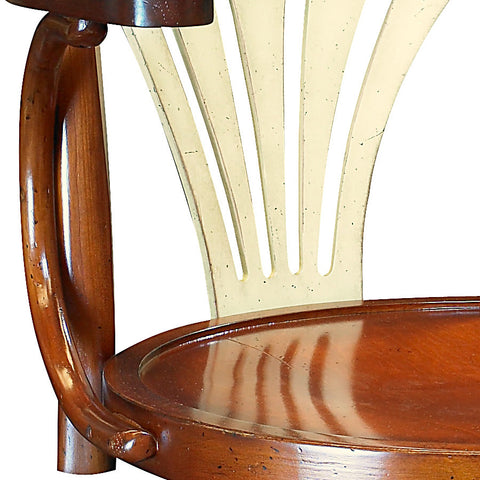 Ivory & Honey Handmade Swivel Chair