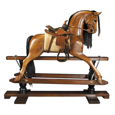 1950s Wild West Wood Rocking Horse