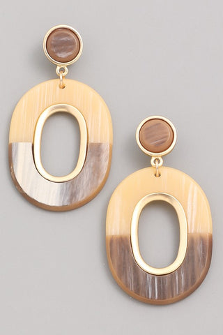 Acrylic Two-Toned Timber Earrings