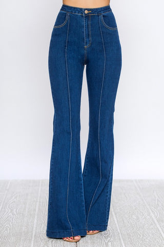 Sheila Stretchy High Rise Wide Leg Jean