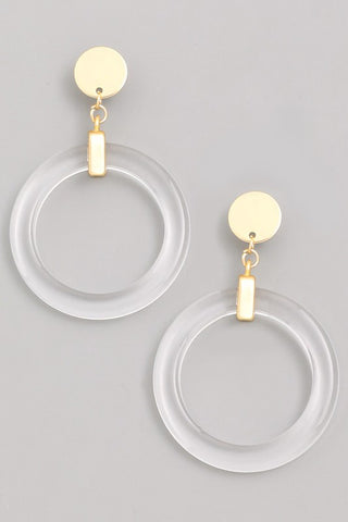 Acrylic Circle Drop Earrings