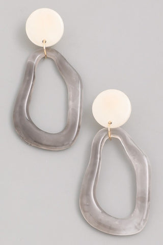 Acrylic Abstract Drop Earrings