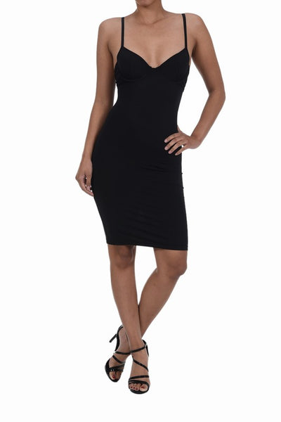 Valencia Shape Mesh Strappy Bodycon Dress