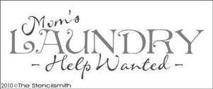 1021 - Mom's Laundry - help wanted