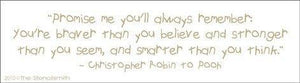 1121 - You're braver than  .... Pooh Quote