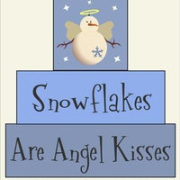 118 - Snowflakes Angel Kisses BLOCK