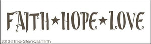 1244 - Faith Hope Love