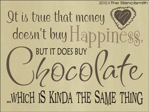 1246 - Money doesn't buy happiness ... CHOCOLATE