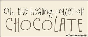 Oh, the healing power of CHOCOLATE