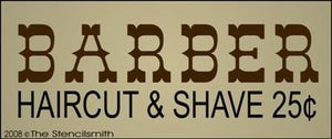 BARBER Haircut & Shave 25c