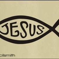 1424 - Christian Fish Jesus