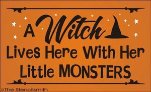 1554 - A witch lives here with her little monsters
