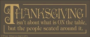 1573 - THANKSGIVING isn't about