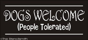 1622 - DOGS WELCOME ... people tolerated