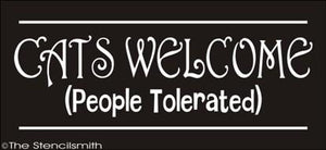 1623 - CATS WELCOME ... people tolerated