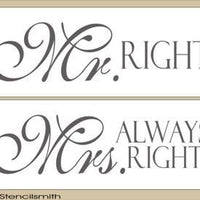 1637 - Mr. Right ... Mrs. Always Right