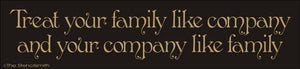 1658 - Treat your family like company and ...
