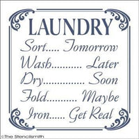 1662 - LAUNDRY sort tomorrow ... wash later