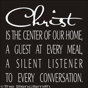 1771 - Christ is the center of our home