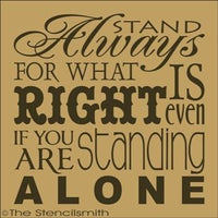 1773 - Always stand for what is right