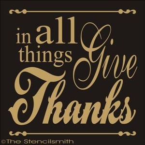 1801 - in all things Give Thanks