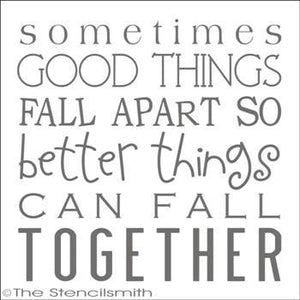1805 - Sometimes good things fall apart
