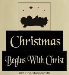 191 - Christmas Begins With Christ - block set