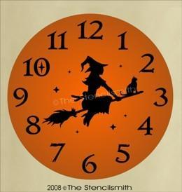 194 - Witch CLOCK Stencil