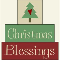195 - Christmas Blessings - BLOCKS Stencil