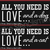 2161 - All you need is love ... and a dog / cat