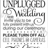 2583 - Welcome to our Unplugged Wedding