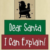 267 - Dear Santa I Can Explain - block set