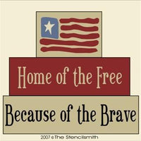 274 - Home of the Free... Brave  - block set