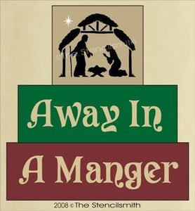 295 - Away in a Manger - block set