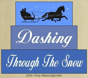 306 - Dashing Through The Snow - block set