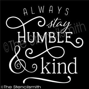 3312 - always stay Humble and Kind