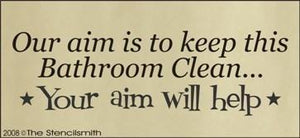 334 - Our aim is to keep this bathroom clean...