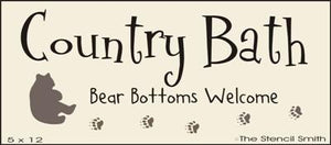 Country Bath - Bear Bottoms Welcome