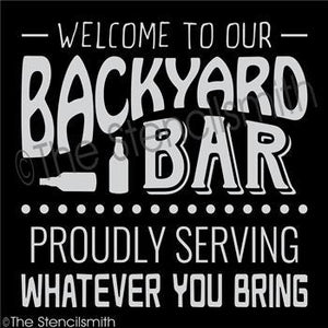 3419 - welcome to our Backyard Bar