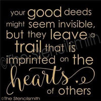 3514 - Your good deeds might seem invisible