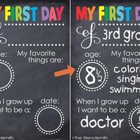 3549 - First Day of School Chalkboard