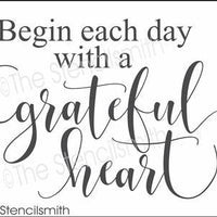 3554 - Begin each day with a grateful heart