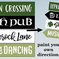 4001 - St. Patrick's Day Directional Stencils