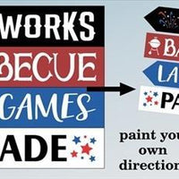 4152 - 4th of July Directional stencils