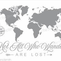 4282 - World Map - not all who wander