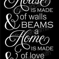 4288 - a house is made of walls & beams