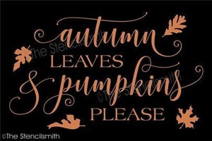 4507 - autumn leaves and pumpkins please