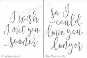 4631 - I wish I met you sooner - 2p set